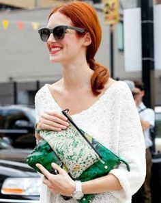 Always chic, Taylor Tomasi Hill and a python clutch