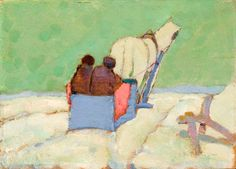 Robertson, Sarah - Le traîneau bleu - Tom Thomson Art Gallery, Owen Sound, Ontario