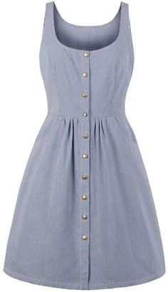 Shein Striped Button Through Dress Source by ShopStyle y faldas Stylish Dresses, Simple Dresses, Cute Dresses, Casual Dresses, Fashion Dresses, Summer Dresses, Striped Fabrics, Latest Dress, Flare Dress