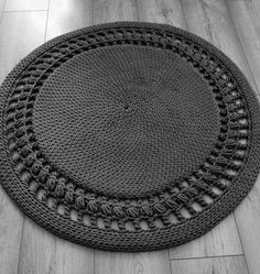 Miękki dywan z szarego sznurka 90 cm hand made dostawa z Polski Allegro w języku rosyjskim