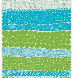 2012 Marimekko 'Off to the Woods Jurmo' design by Aino Maija Metsola in blue & green colourway.