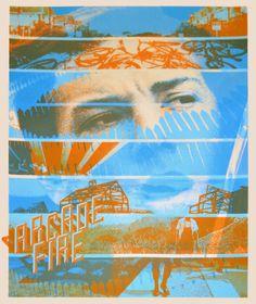 Arcade Fire Phoenix concert poster s/n