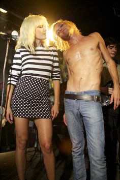 Malin Akerman and Taylor Hawkins as Debbie Harry and Iggy Pop in the CBGB trailer