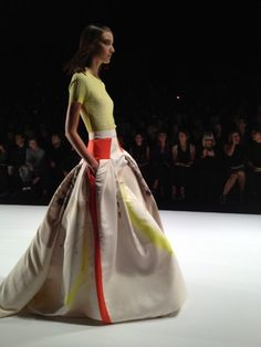 Ball skirts with pockets at Carolina Herrera make me smile. #NYFW Photo - Julia Allison