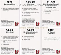 Kfc Coupons Promo Coupons will expired on MAY 2020 ! About KFC For fried chicken in the Colonel's kitchen, use the Kentucky Fried C. Kfc Printable Coupons, Kfc Coupons, Print Coupons, Free Printables, Coupons For Free Items, Restaurant Deals, Kentucky Fried, Coupon Deals, Ways To Save Money