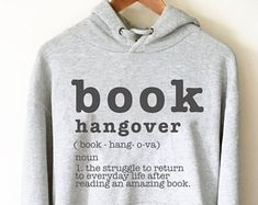 Book Hangover Hooded Sweatshirt - book lover hoodie - book lover gift - reading shirt - book lover gifts - bookworm gift - bibliophile m6mRM