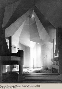 Neviges Pilgrimage Church, Velbert, Germany, 1968 by Gottfried Bohm