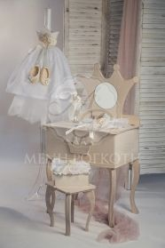 Exquisite princess boudoir for Christening Christening, Special Occasion, Kids Fashion, Dining Table, Baby Shower, Princess, Birthday, Decorated Candles, Furniture