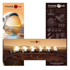 Get a set of 3 beautiful Mars One posters. The set includes the astronaut, settlement and concept sketch poster.