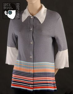 70s 'Lanvin - Paris' knitted top.