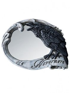 """Nevermore"" Compact Mirror by Alchemy of England"