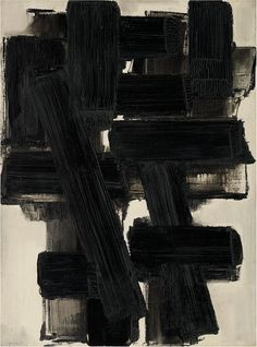 Pierre Soulages, painting. #arts #soulages #painting