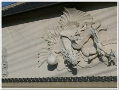(Kote-e) Japanese Plaster Art, zingo dragon