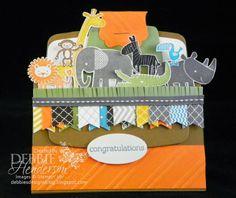 Stampin' Up! Zoo Babies gift card holder using the Envelope Framelits Dies by Debbie Henderson, Debbie's Designs.