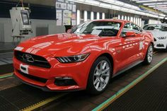 The Very First 2015 Ford Mustang off the assembly line