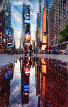 Times Square...all bright and shiny!   (Photo from Stuck in Customs on Flickr)