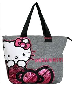 Grey Quilted Hello Kitty Tote Bag Style SANTB0225 (1 piece available) $56.00