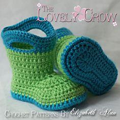 Crochet Baby Gum boots!