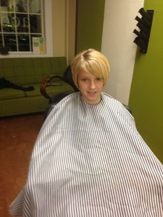 After shot of Claire's awesome haircut from GA business partner Acorn Organic Salon