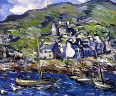 A Windy Day at Barra Samuel John Peploe (Scottish) 1903 Environment Painting, Different Forms Of Art, Windy Day, Celtic Art, High Art, Art And Architecture, Landscape Art, Art Oil, Painting Inspiration