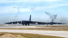 Amid the global terrorism remains the nuclear threat. In a recent USAF exercise responding to a series of mock nuclear threats, the USAF launched three nuclear equipped B-52s while two more taxied for takeoff at Minot AFB, ND. They're ready!