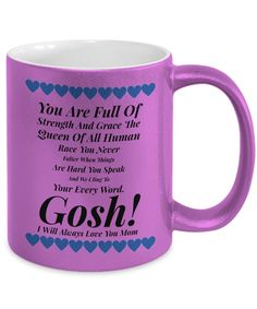 Coffee Mug For Mom - The Gosh! Collection Gifts for Valentines, Birthdays, Special Occasions: Heartfelt Greetings of Love and Admiration