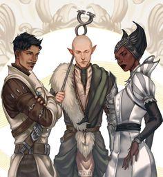 Dragon Age,фэндомы,Dragon Age Inquisition,Дориан,Солас,DA персонажи,Вивьен,Nipuni