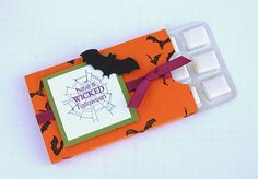 Stampin up pics 155... gum treat, could be done for any season or gift card holder???
