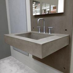 """30"""" Floating Novo Concrete Bathroom Sink - Trueform Concrete"""