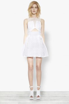 "15 Gorgeous LWDs To Change Into After Your ""I Dos"" #refinery29  http://www.refinery29.com/white-dresses#slide2"