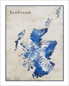 Scotland Map Map of Britain England British Map Fine Art