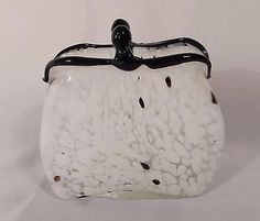 BEAUTIFUL-VINTAGE-1960s-MURANO-ART-GLASS-CLUTCH-PURSE-VASE-HAND-MADE-IN-ITALY
