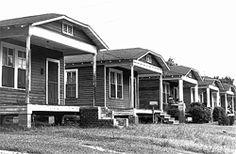Folklife in the Florida Parishes: Baton Rouge - shotgun houses in an urban area of Baton Rouge, early century Creole Cottage, Shotgun House, Mississippi, Louisiana, New Orleans, Florida, Houses, Shotguns, Urban