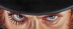 Artist Jason Edmiston is devoting his next showcase entirely to paintings of the eyes of famous fictional characters, some of which are easy to pin down, while others are a little trickier. Clockwork Orange Eyes, Clockwork Orange Tattoo, Freeks And Geeks, Jason Edmiston, Orange Clocks, Eyes Without A Face, Orange Quotes, Orange Art, Pop Culture Art