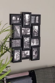 Darby Home Co Revet 12 Piece Picture Frame Set Color: Black Contemporary Picture Frames, Frame Wall Collage, Framed Art, Picture Frame Sets, Picture Ideas, Picture Wall, Wall Decor, Room Decor, 6 Photos