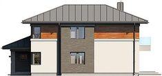 Projekt domu Kadyks 157,68 m2 - koszt budowy - EXTRADOM Mediterranean Style Homes, House Plans, Shed, Outdoor Structures, Outdoor Decor, Home Decor, House, Decoration Home, Room Decor