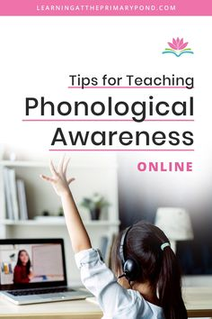 Phonological awareness is an essential component of early reading instruction. But if you're teaching online, you may bump into some challenges. In this blog post, I'll share some tips for teaching phonological awareness online. I also have a few bonus tips for educators who are teaching in-person but need to wear a mask due to the pandemic. Phonics Lessons, Teaching Phonics, Student Teaching, Teaching Reading, Phonemic Awareness Activities, Phonological Awareness, Kids Learning Activities, Learning Resources, Phonics Programs