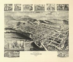Historic Map of Williamsburg Pennsylvania 1906 Blair County Poster