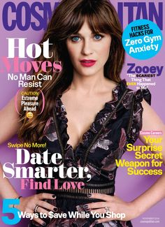 Zooey Deschanel Reveals the Reason She Took Social Media Break: Photo Zooey Deschanel's bright blue eyes look gorgeous on the cover of Cosmopolitan magazine's November 2016 issue, on newsstands October Here's what the V Magazine, Fashion Magazine Cover, Magazine Covers, Female Magazine, Digital Magazine, Cosmopolitan Magazine, Instyle Magazine, Marie Claire, Vanity Fair