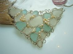 Sea Glass Netted Necklace