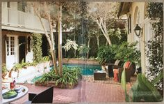 I don't remember where I got this photo, but I love this courtyard.
