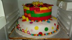 #much #colours #pois #fiocchi #cakedesign Birthday Cake, Sweet, Creative, Desserts, Candy, Tailgate Desserts, Birthday Cakes, Deserts, Postres