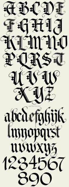 1000 Ideas About Old English Font On Pinterest Font