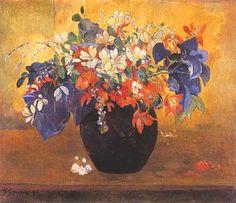 "Paul Gauguin, ""Fleurs (Vaso di fiori)"", 1896, The National Gallery, Londra (London)"