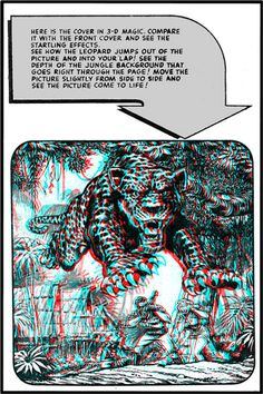 3-D Comic Books - 3dfilmarchive 3d Pictures, Weird Things, Glitch, Monsters, Creepy, 3 D, Comic Books, Comics, Classic