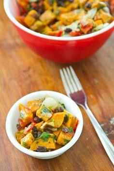 Naturally Ella | Roasted Sweet Potato and Black Bean Salad