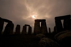 A solar eclipse viewed from Stonehenge.