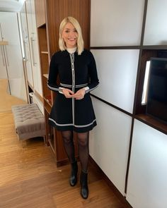 """Holly Willoughby on Instagram: """"Morning Wednesday... see you on @thismorning at 10am... stay home and stay safe with us... we got you...❤️ #hwstyle💁🏼♀️✨ Dress by…"""" Beautiful Person, Beautiful Legs, This Morning Fashion, Holly Willoughby This Morning, Smart Auto, Stay Safe, Ted Baker, Cheer Skirts, You Got This"""