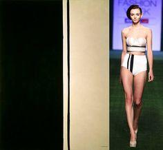 #BarnettNewman BlackFire(1961)  #ShivanandNarresh  Linen Bralet with High-Waisted Bottom