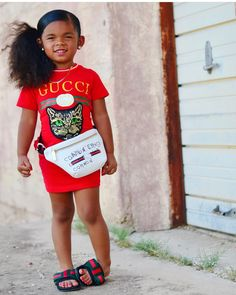 Image may contain: 1 person, standing and outdoor Black Kids Fashion, Cute Kids Fashion, Little Girl Fashion, Toddler Fashion, Toddler Outfits, Kids Outfits, Toddler Swag, Baby Outfits, Cute Mixed Babies